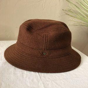 Brixton brown wool bucket hat size XS 63/4in